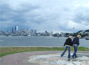 Seattle view from Gas Works Park