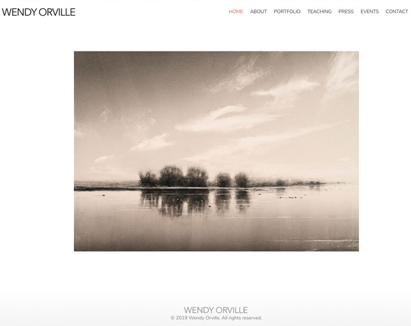 WendyOrville.com WordPress Artist Website Design